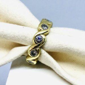 anello oro con diamanti stile nordico gioielli torino