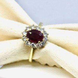 anello oro giallo con rubino gioielli torino