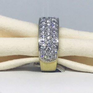 anello oro giallo con diamanti piccoli gioielli torino