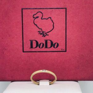 anello dodo mariani oro giallo con diamante gioielli torino