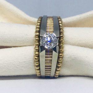 Anello solitario con diamante gioielli torino