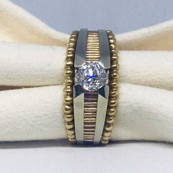 Anello solitario con diamante ct 0,85