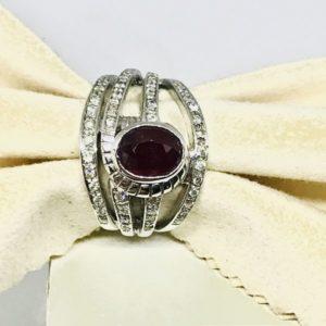 anello con opale e diamanti gioielli torino