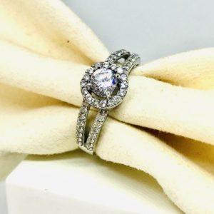 anello in oro bianco e diamanti gioielli torino