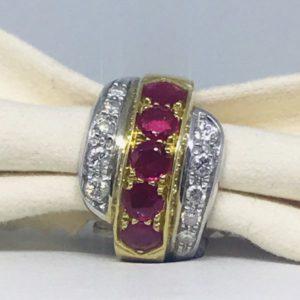 anello in oro con rubini e diamanti gioielli torino