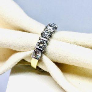 anello con 5 diamanti gioielli torino
