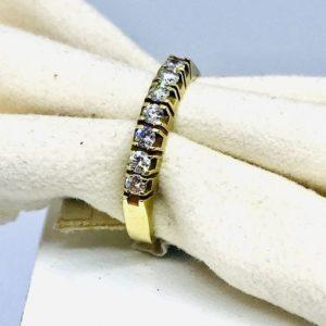 anello in oro con 5 diamanti gioielli torino