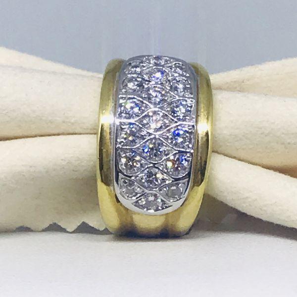 Anello pavè con diamanti ct 0,95