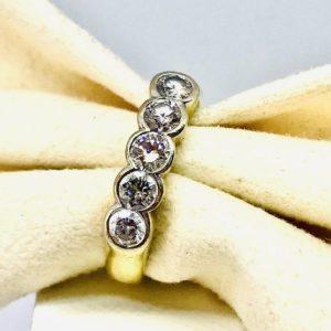 anello oro giallo e diamanti gioielli torino