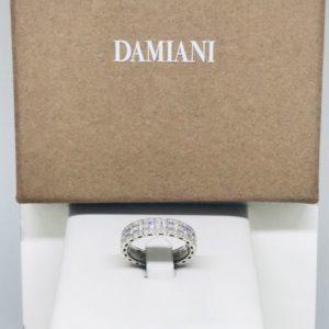 anello oro bianco con diamanti gioielli torino