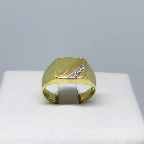 Anello con tre diamanti ct 0,03
