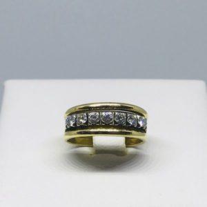 anello mezza riviera con diamanti gioielli torino