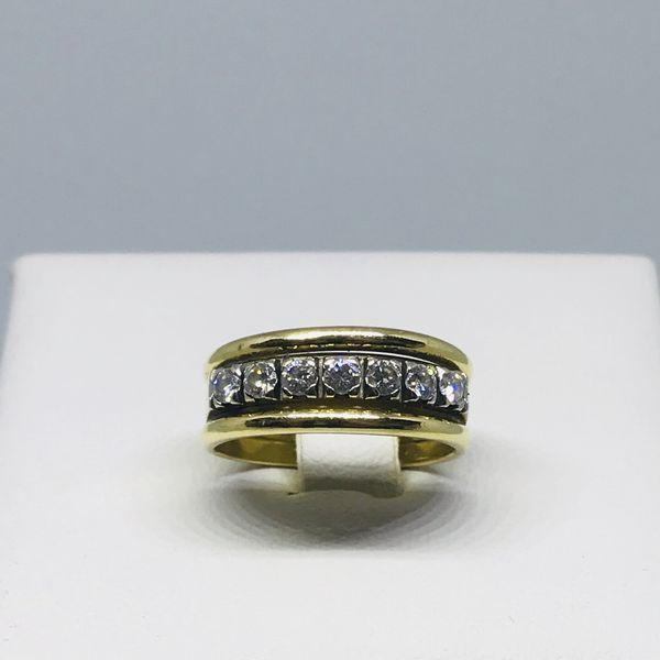 Anello mezza riviera con diamanti ct 0,49