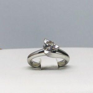 anello argento e diamante gioielli torino
