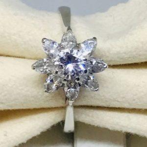 anello con diamanti a stella gioielli torino
