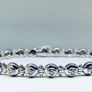 bracciale in oro bianco a 18 carati con diamanti gioielli torino