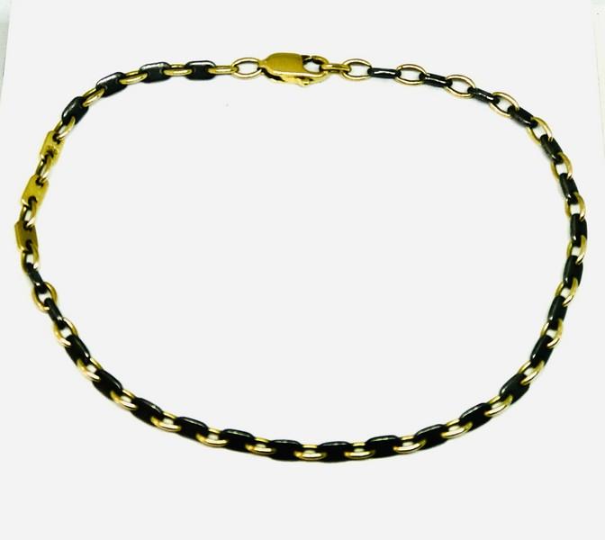 Bracciale oro giallo e oro nero 18 carati