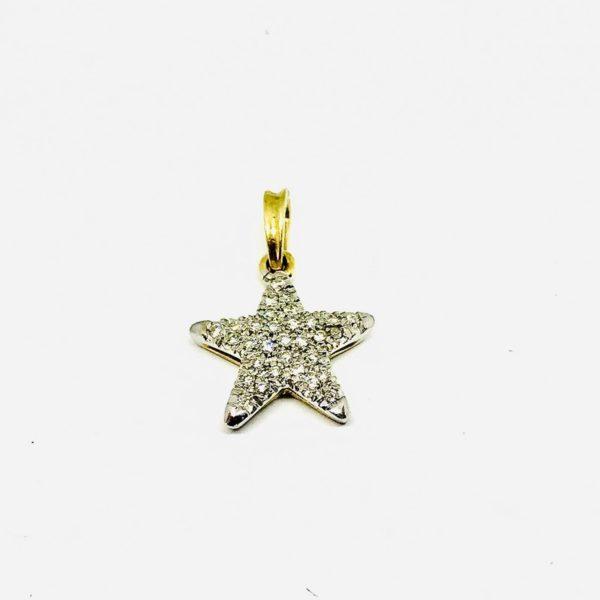 Ciondolo a forma di stella con pietre preziose gioielli torino