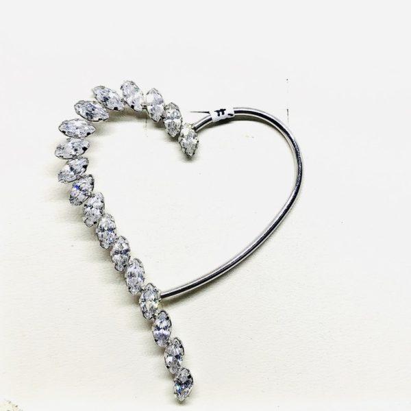 Ciondolo a forma di cuore con pietre preziose gioielli torino