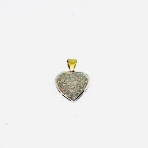 ciondolo a forma di cuore con diamanti piccoli gioielli torino