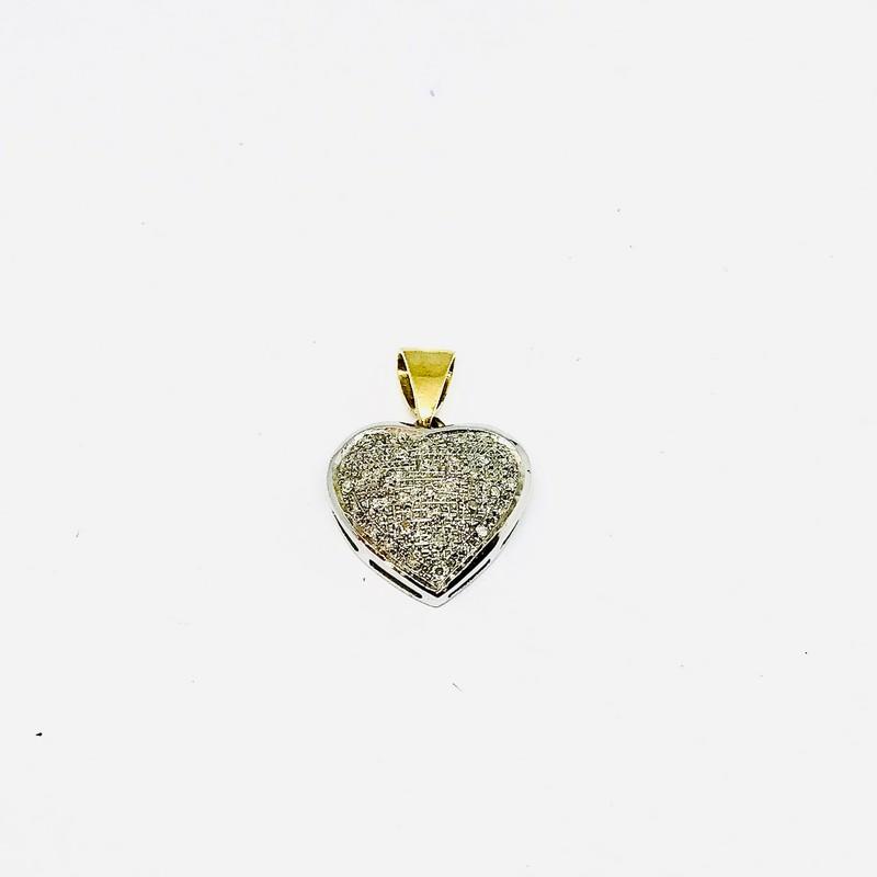 Ciondolo cuore con diamanti