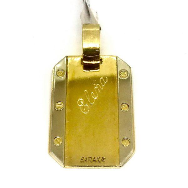 Ciondolo in oro giallo a 18 carati con iscrizione gioielli torino