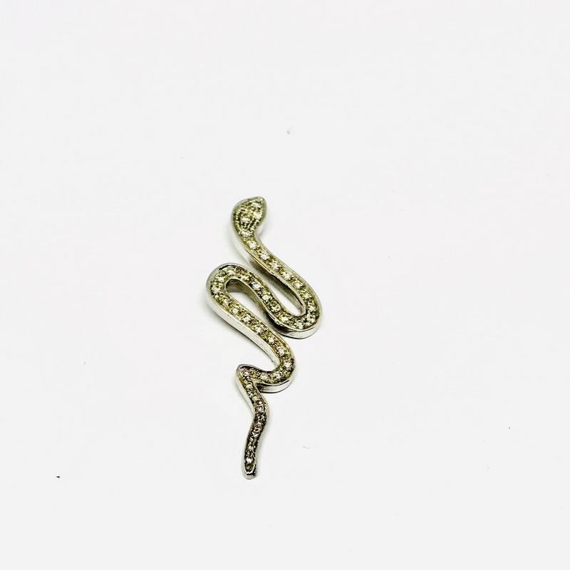 Ciondolo Serpente con diamanti