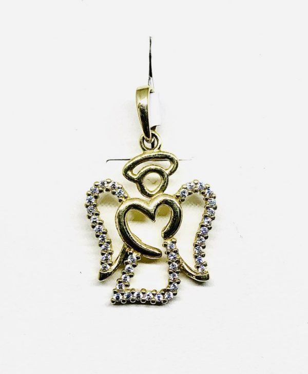 ciondolo a forma di angelo stilizzato gioielli torino