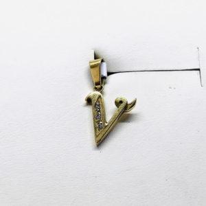 ciondolo a forma di lettera V gioielli torino