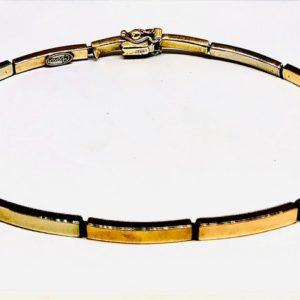 bracciale di oro giallo 18 carati gioielli torino