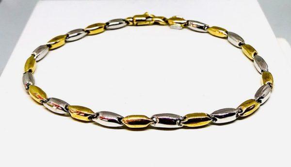 bracciale in oro giallo e bianco gioielli torino