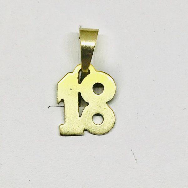 ciondolo a forma di numero 18 gioielli torino
