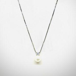 collana ciondolo diamante e perla gioielli torino