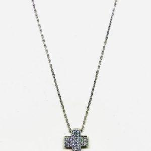 Collana con ciondolo pendente a forma di croce con pietre gioielli torino