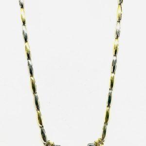 collana in oro giallo con diamante gioielli torino