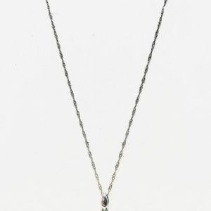 collana con pietra blu incastonata in ciondolo gioielli torino