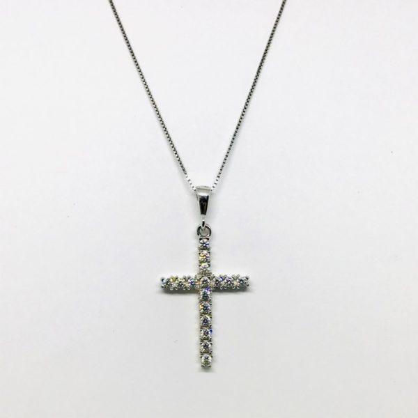 Collana con ciondolo pendente a forma di croce gioielli torino