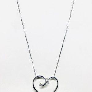 Collana con ciondolo pendente a forma di cuore stilizzato gioielli torino