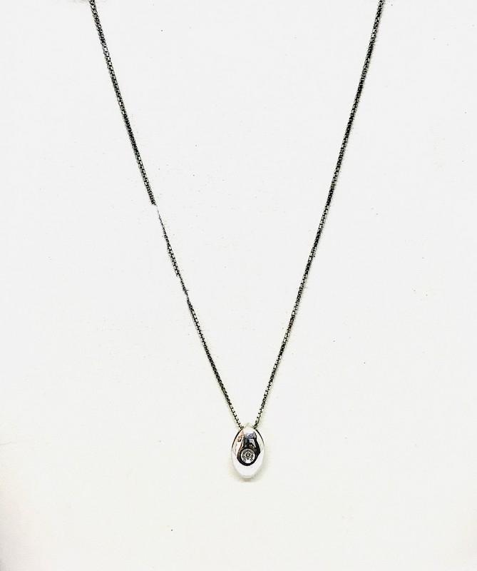 Collana diamante ct 0,01