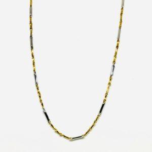 Collana in oro giallo e bianco a 18 carati gioielli torino