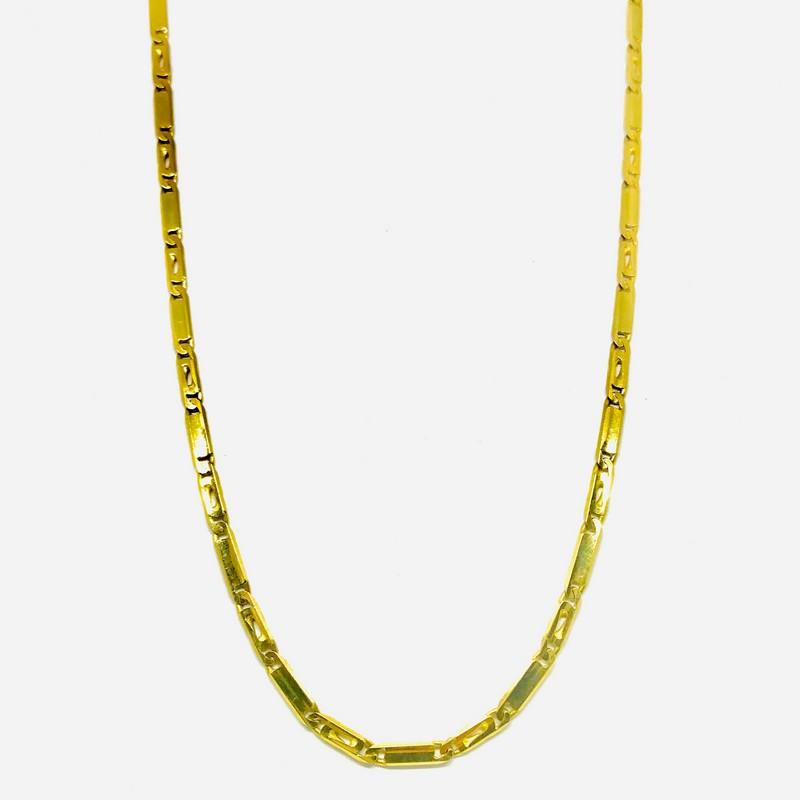 Collana maglia piatta cm 48