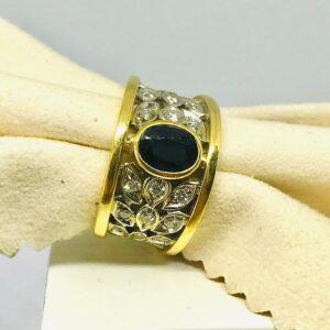 anello in oro giallo con smeraldo offerte d'oro gioielli torino