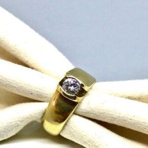 anello in oro giallo con diamante gioielli torino offerte d'oro