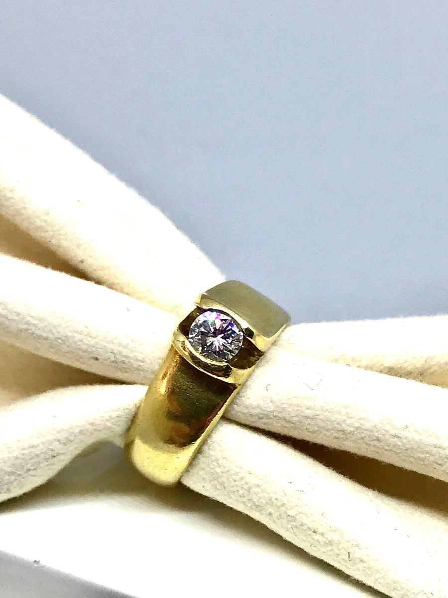 Anello con diamante ct 0,35