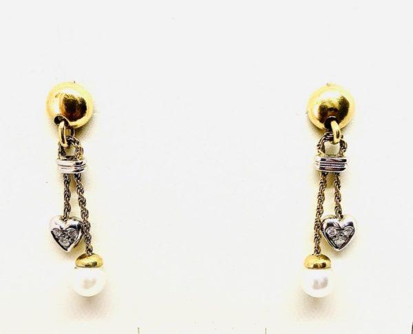 orecchini con perle e cuore gioielli torino