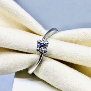 Anello in oro bianco 18 carati con diamante offerte d'oro gioielli torino