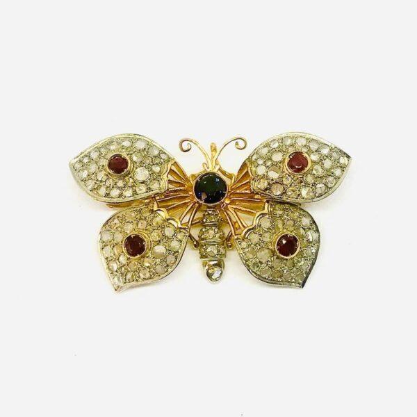 spilla in oro a forma di farfalla gioielli torino