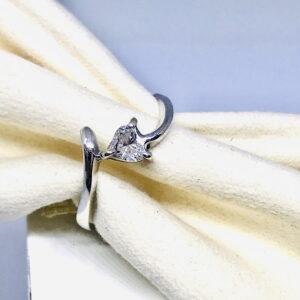 Anello in oro bianco 18 carati con diamante gioielli d'oro offerte d'oro