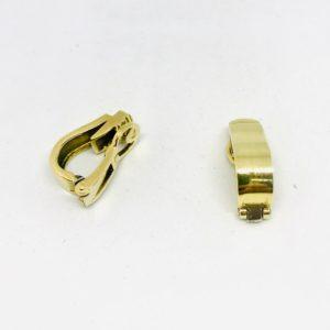 orecchini a molla in oro giallo 18 carati gioielli torino