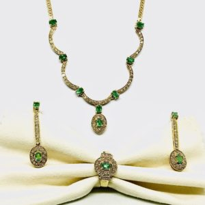 parure oro giallo e smeraldi e diamanti gioielli torino